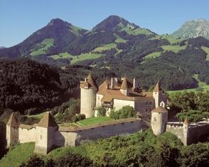 Vue depuis le Château de Gruyère