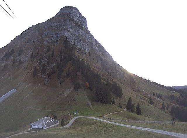 Moléson, vue sur le sommet depuis Plan-Francey